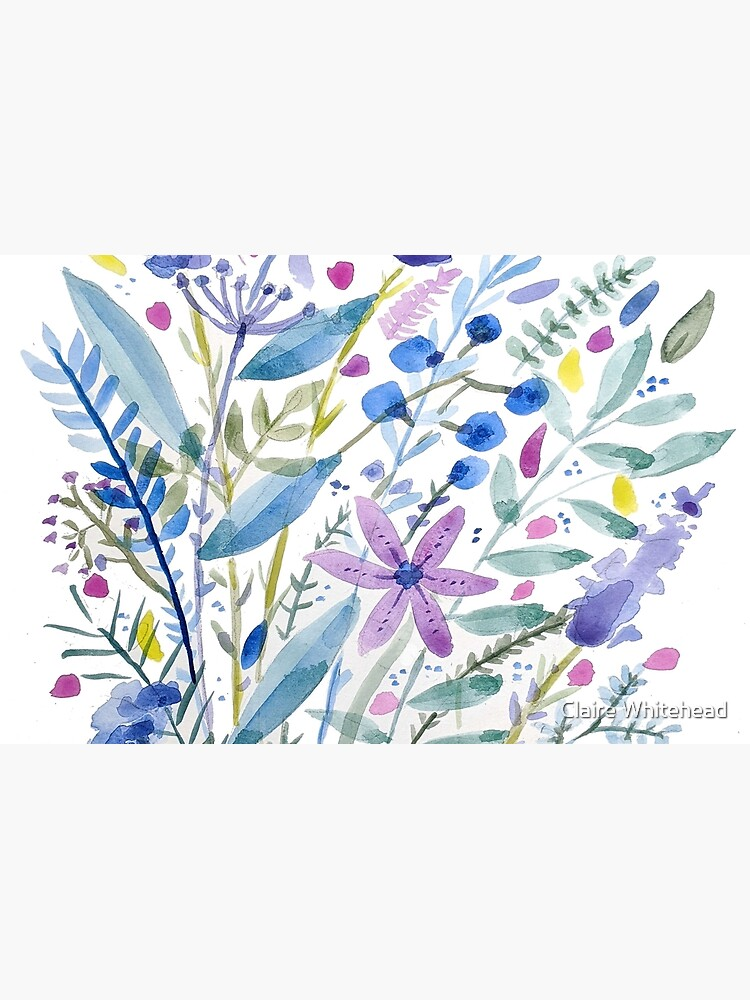 Flowers in Blue and Purple by clairewhitehead