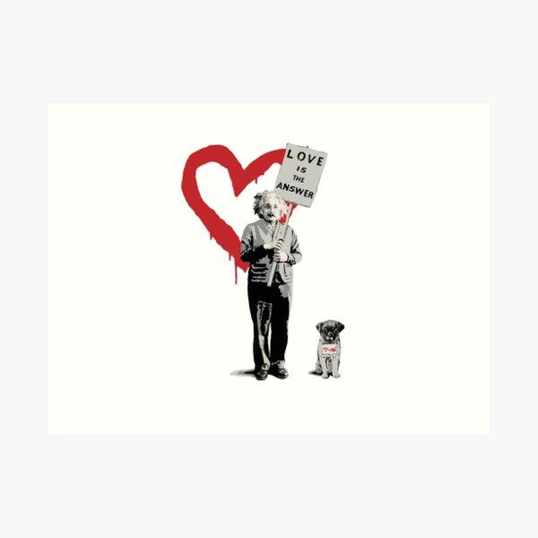 BANKSY Einstein Love is the Answer Art Print