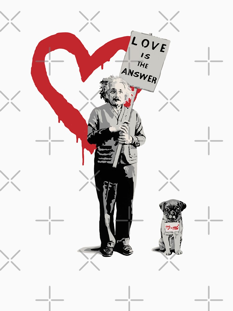 BANKSY Einstein Love is the Answer by inkstyl