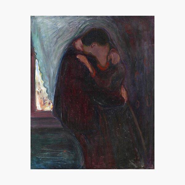 Edvard Munch - The Kiss Photographic Print