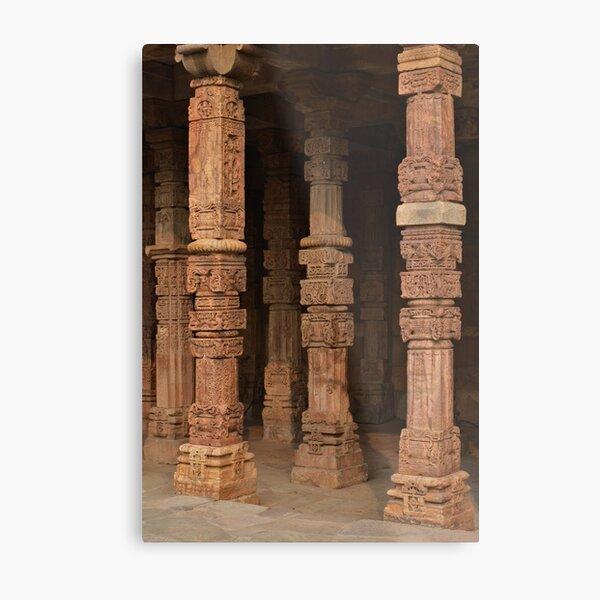 Columns at Qutb Minar Metal Print