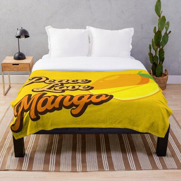 Peace Love Mango. Throw Blanket