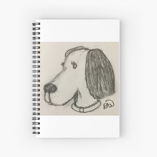 Beagle Dog in Charcoal Spiral Notebook