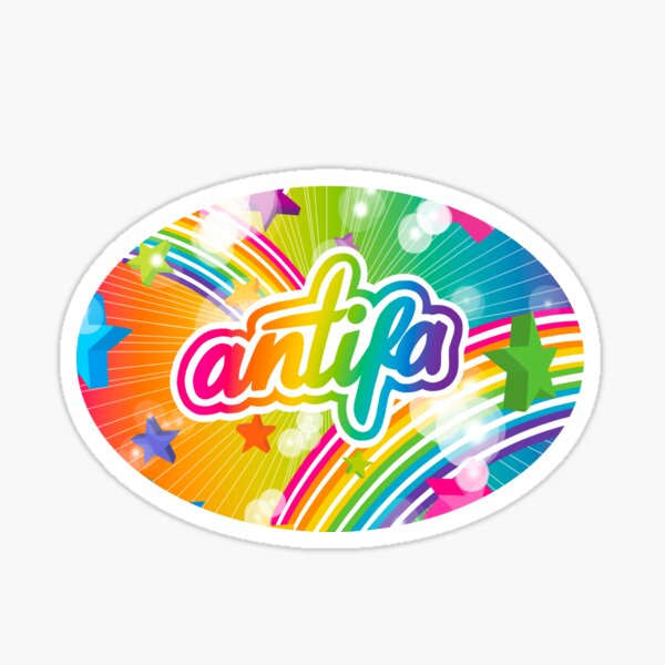 Lisa Frank style ANT*FA logo type thing  Sticker