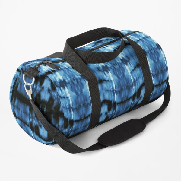 Indigo Satin Shibori Duffle Bag