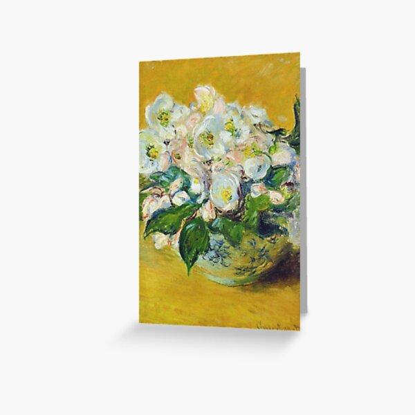 Claude Monet - Christmas Roses Greeting Card