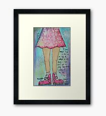 Walk in my shoes Framed Print