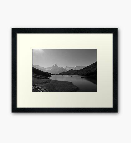 "Bachalpsee-Switzerland ""Top of the World"" Framed Print"
