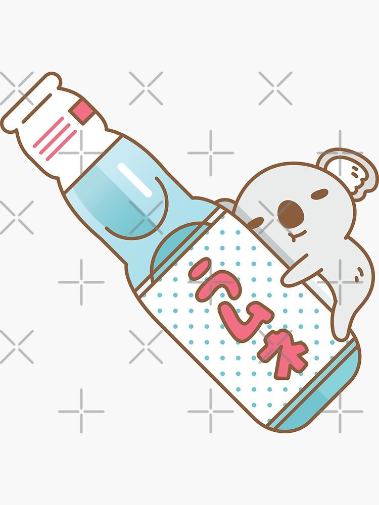 Baby koala with ramune japanese soda by Miri-Noristudio