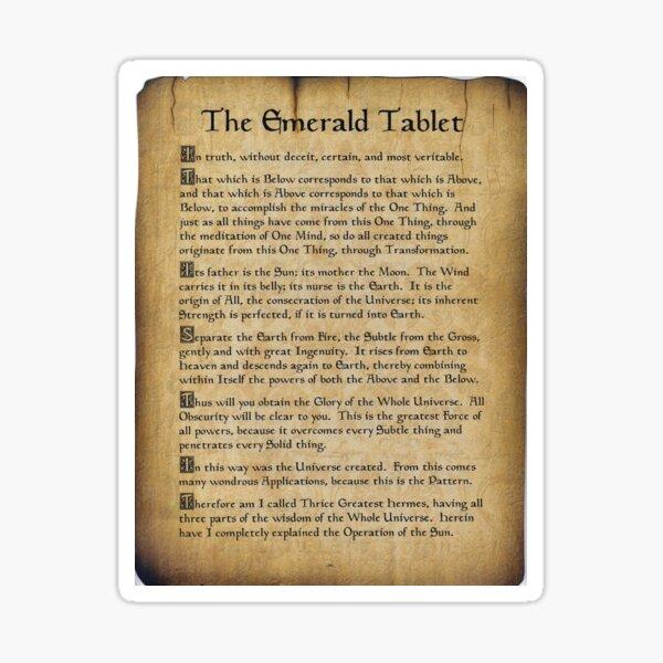 Emerald Tablet Scroll Sticker