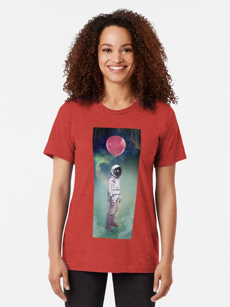 Alternate view of Red Balloon Tri-blend T-Shirt