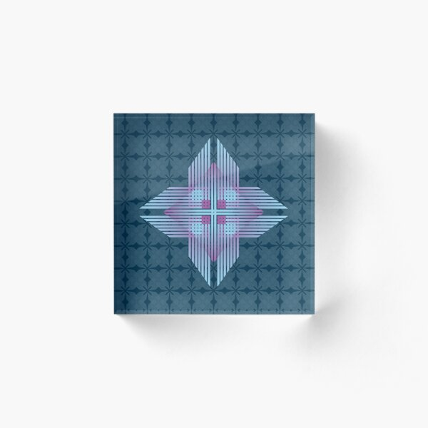 Native Indigo Star Acrylic Block