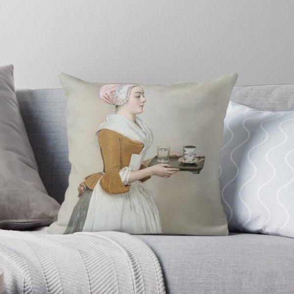 Jean - Etienne Liotard - The Chocolate Girl Throw Pillow
