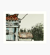 side of old house Art Print