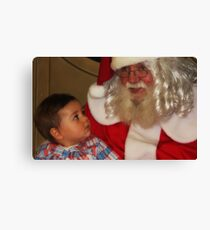 """It's my First Christmas Santa ! "" Canvas Print"