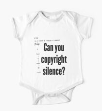 Can you copyright silence? One Piece - Short Sleeve