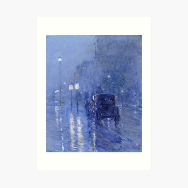 Childe Hassam - Rainy Midnight 1890 Art Print
