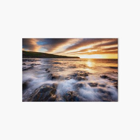 Waves in the Sky at Abereiddy Beach Art Board Print