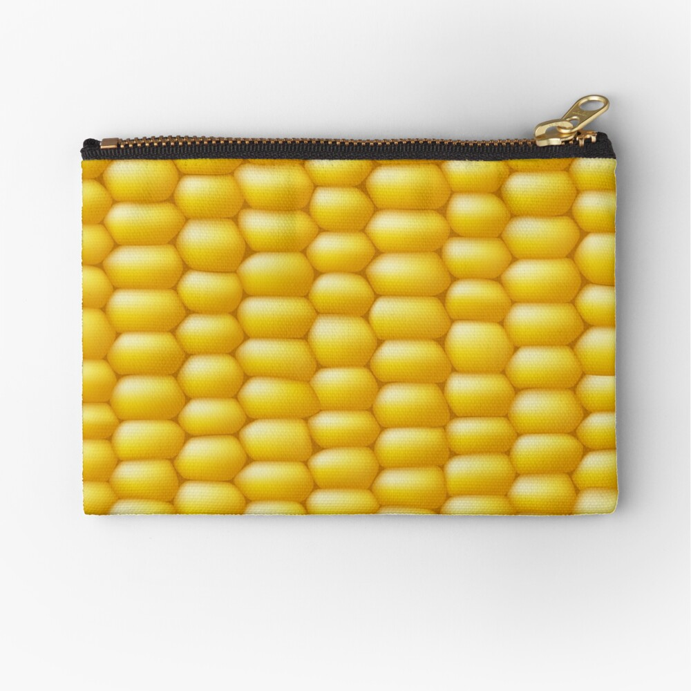 Corn Cob Background Zipper Pouch