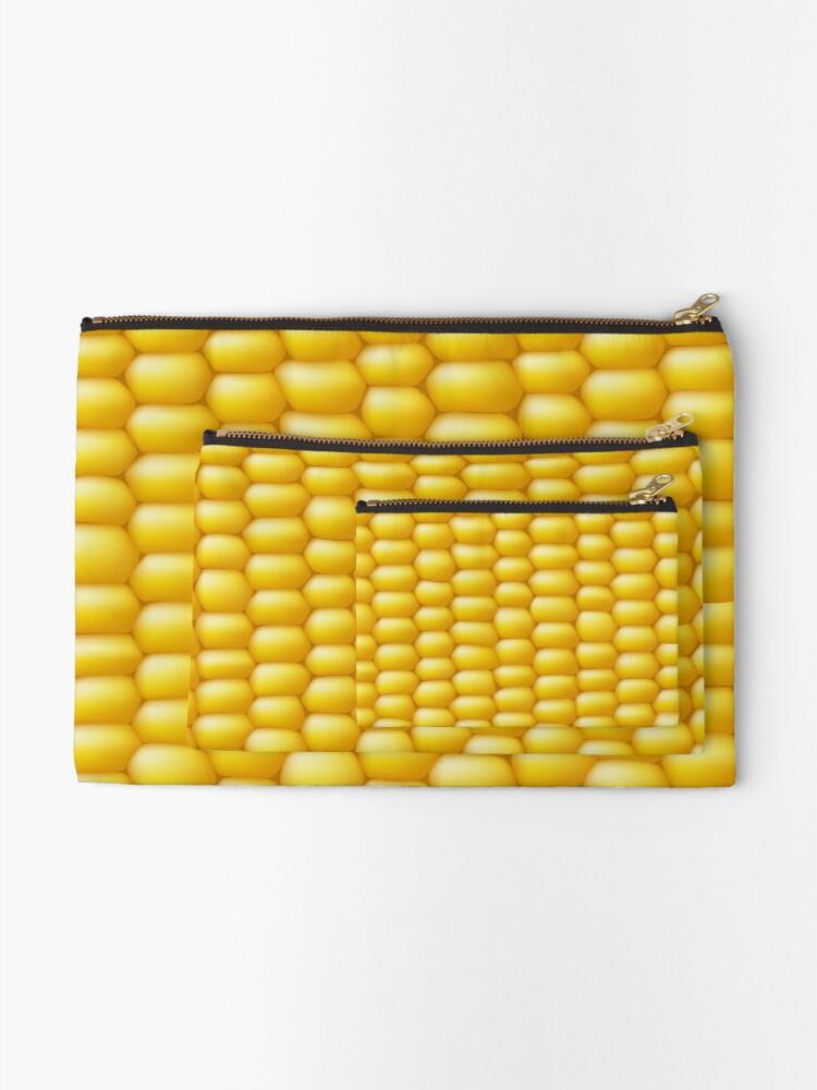 Alternate view of Corn Cob Background Zipper Pouch