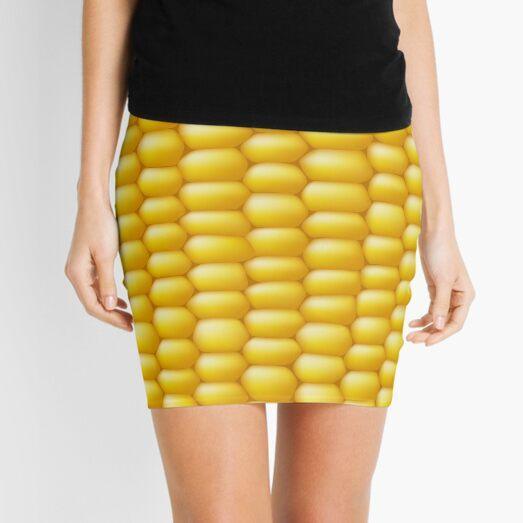 Corn Cob Background Mini Skirt