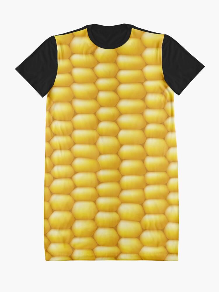 Alternate view of Corn Cob Background Graphic T-Shirt Dress