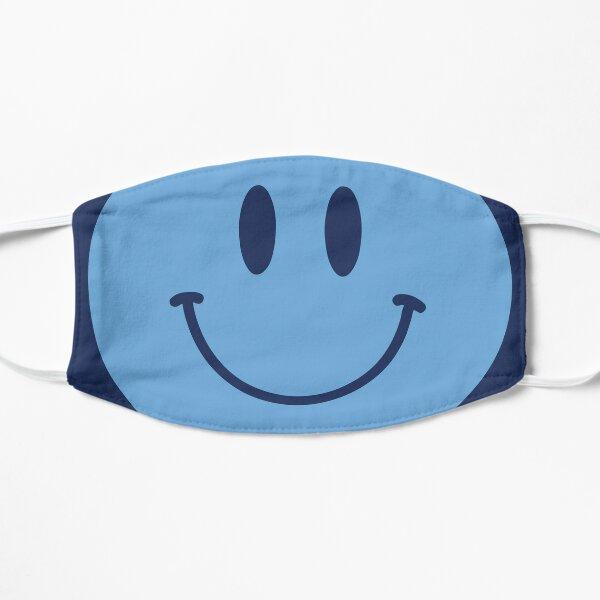 Cara sonriente azul MCFC :) Cara feliz Mascarilla plana