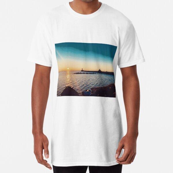 Sunrise over Duluth Harbor Long T-Shirt