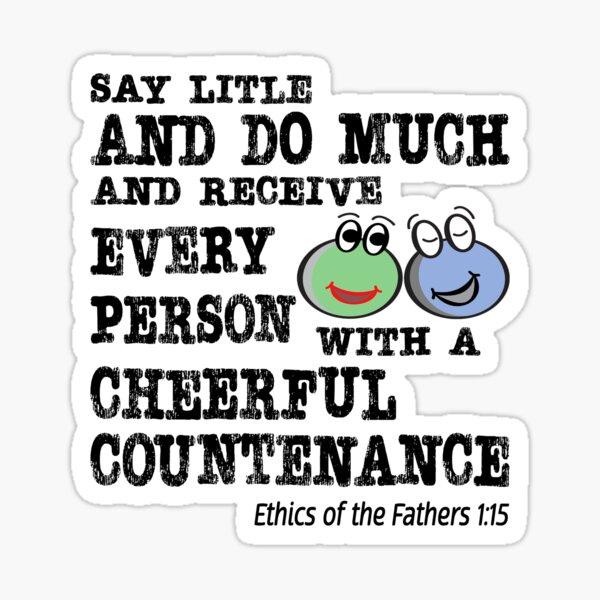 Say Little and Do Much. Sticker