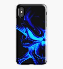 Blue skull Case 1 (GLOW) iPhone Case/Skin