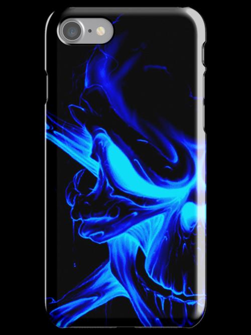 Blue skull Case 1 (GLOW) by MrBliss4