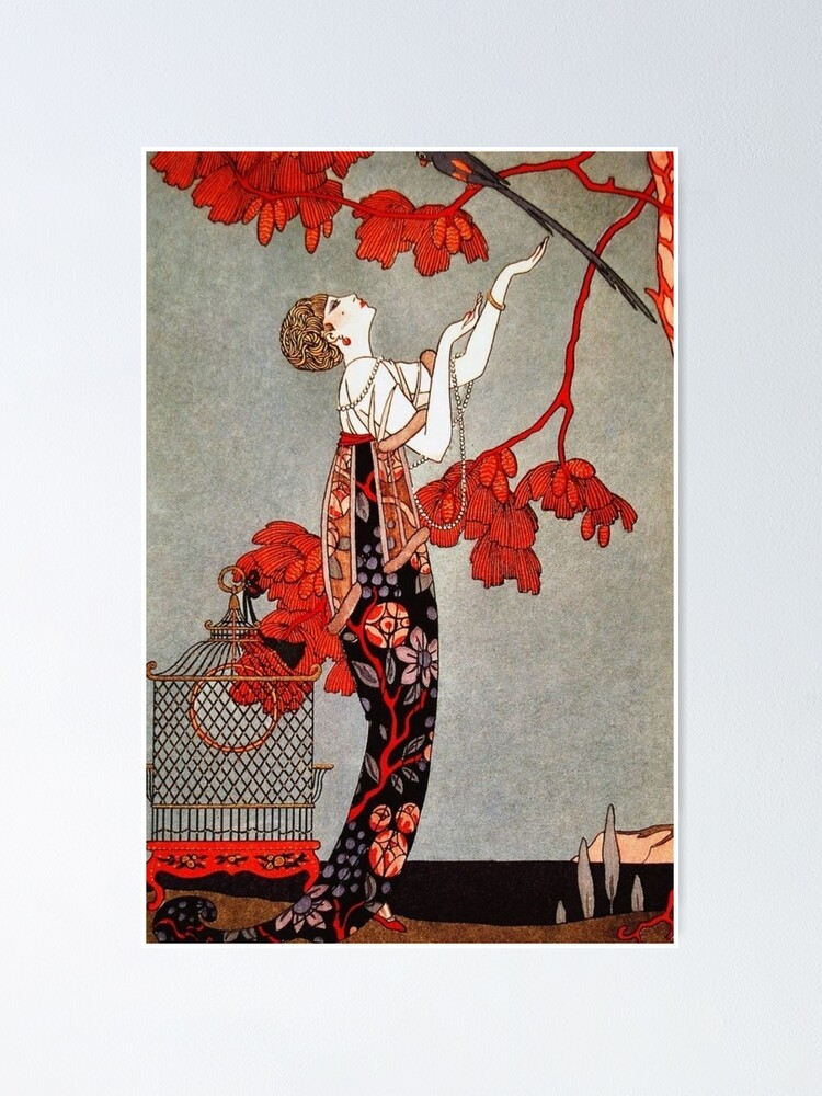 Alternate view of L'Oiseau Volage by George Barbier, 1914 Poster
