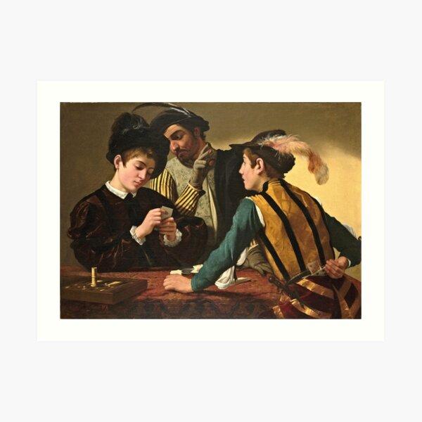 Caravaggio - The Cardsharps  Art Print