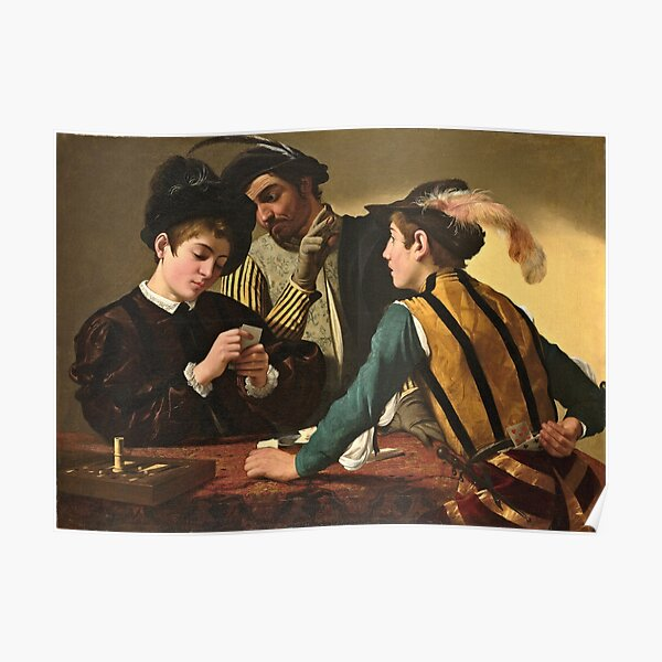 Caravaggio - The Cardsharps  Poster