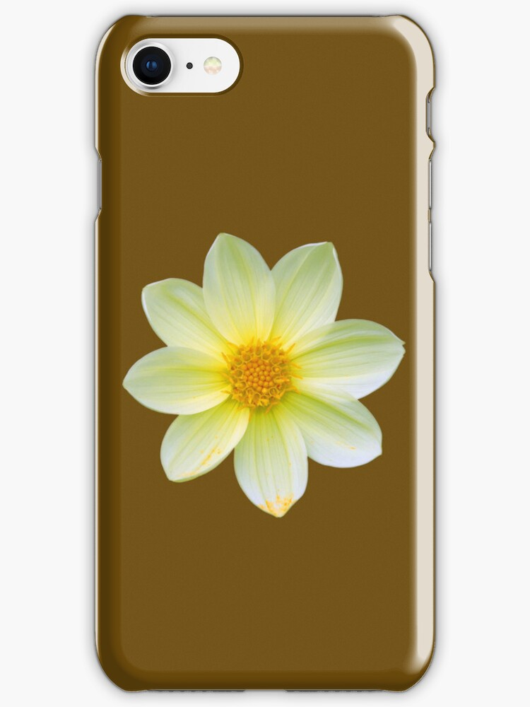 Yellow Dahlia Flower Case by simpsonvisuals