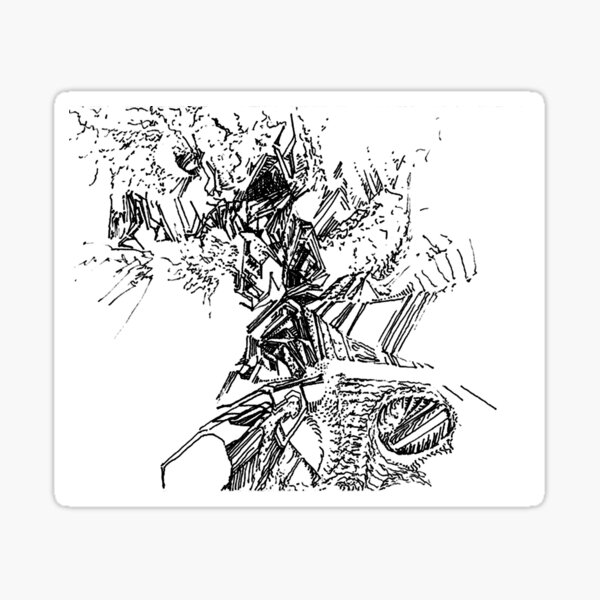 freestyle ink drawing 005 Sticker