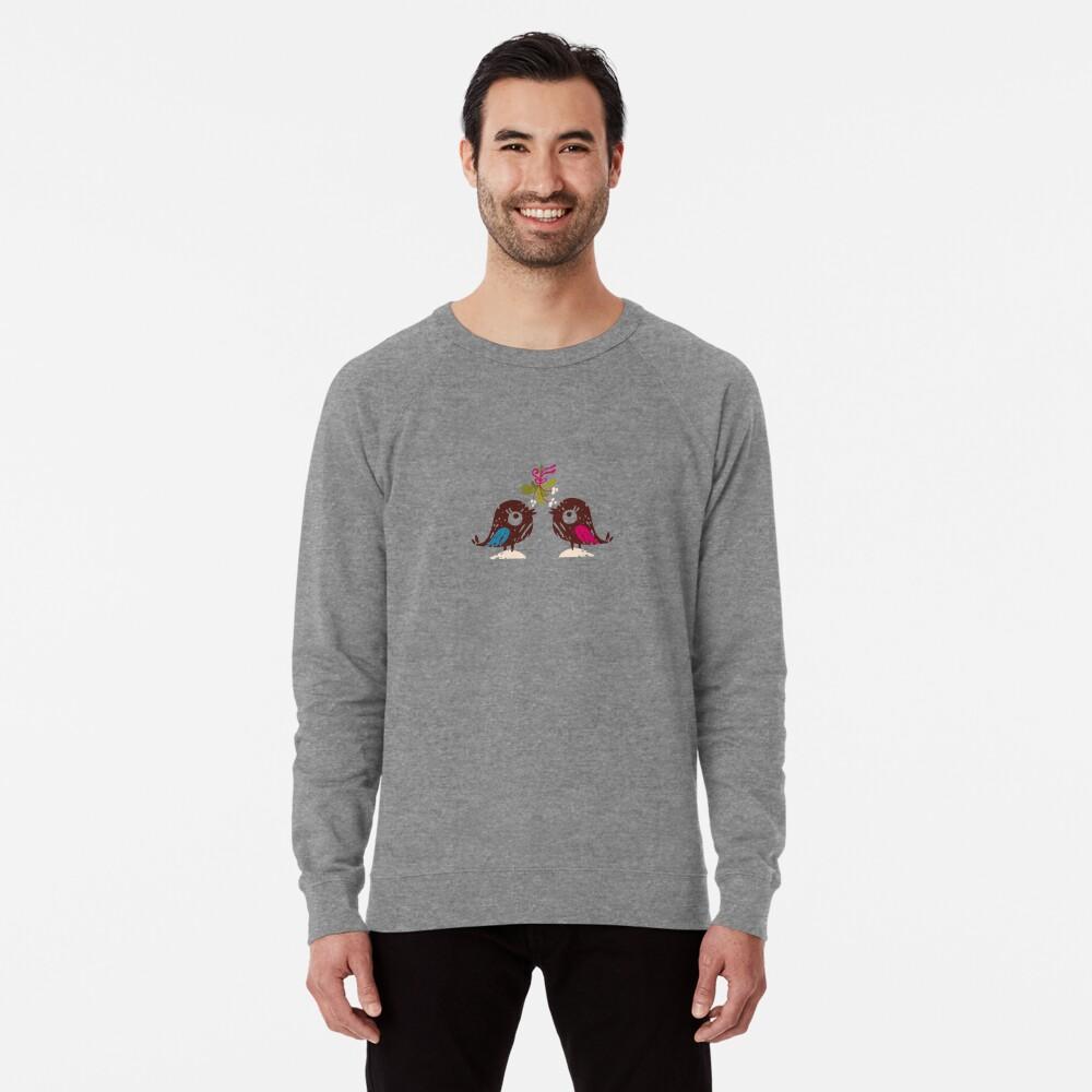 Christmas Love Birds Lightweight Sweatshirt