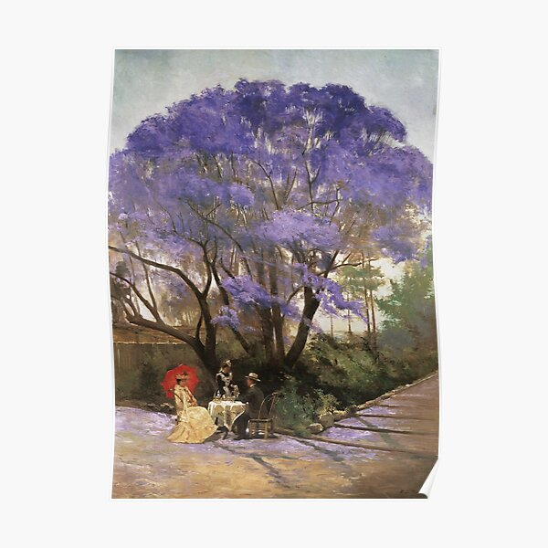 Godfrey Rivers - Under The Jacaranda 1903 Poster