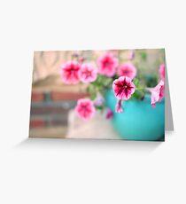 Pink Patunia Greeting Card
