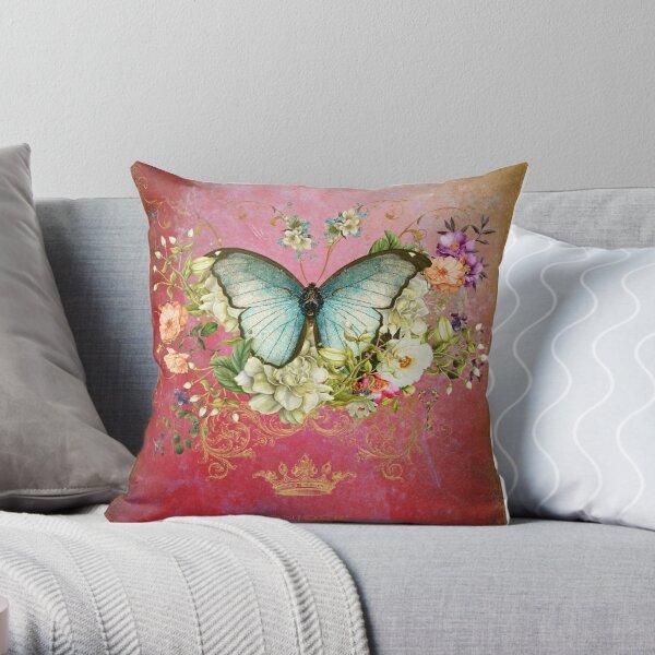 Blue Raspberry Throw Pillow
