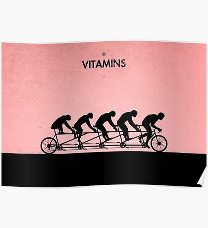99 Steps of Progress - Vitamins Poster
