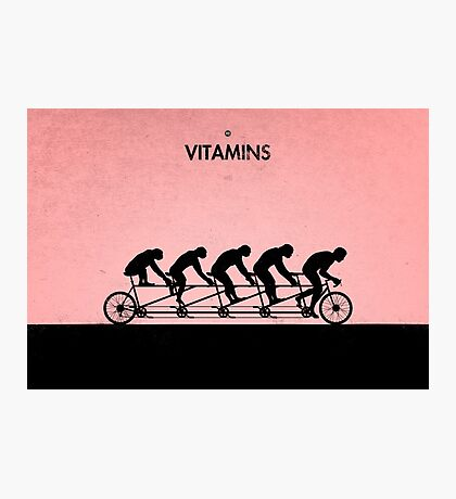 99 Steps of Progress - Vitamins Photographic Print