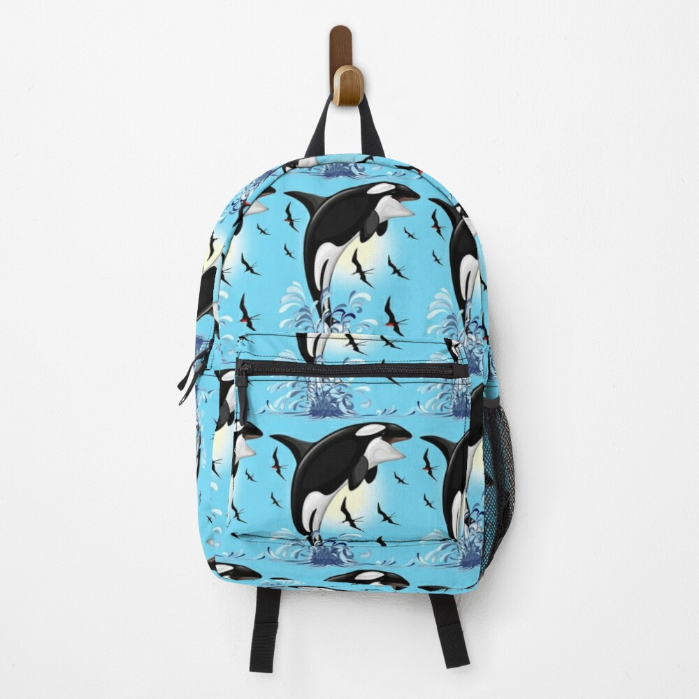Orca Killer Whale jumping out the Ocean Backpack