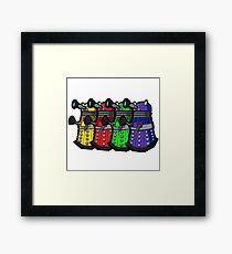 Beware the Daleks! Framed Print