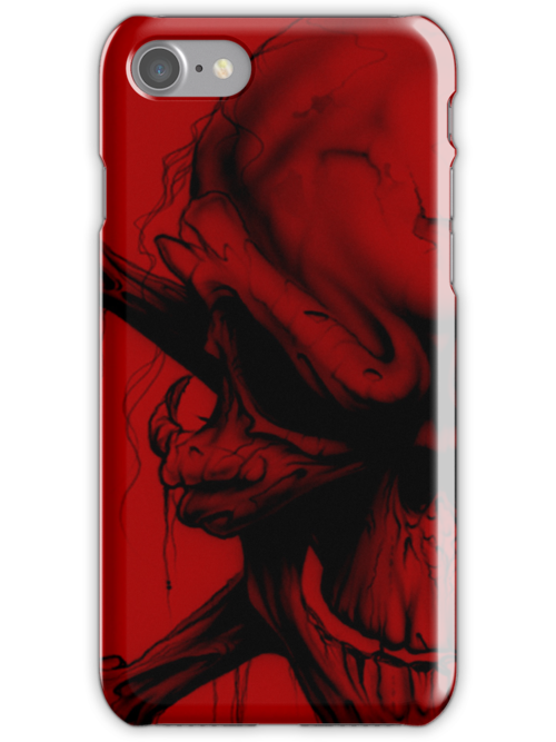 Red skull case B by MrBliss4