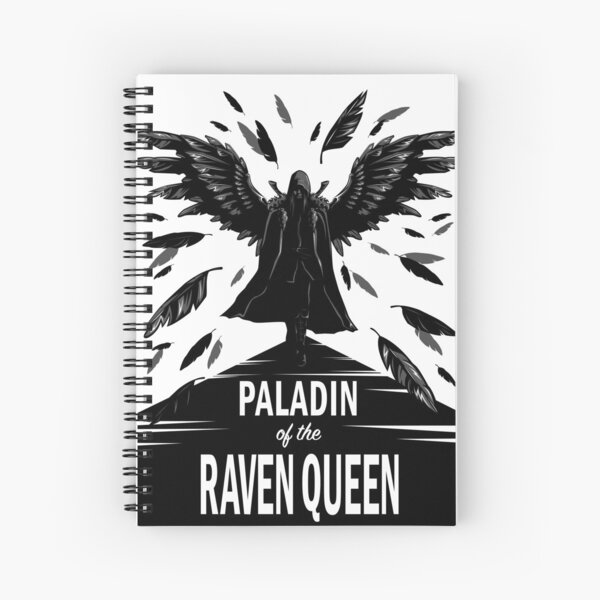 Paladin of the Raven Queen - B&W Variant Spiral Notebook