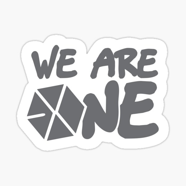 EXO - ¡Somos uno! (Fuente negra) Pegatina