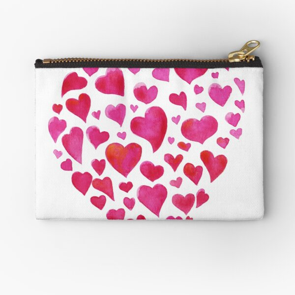 Many hearts Zipper Pouch