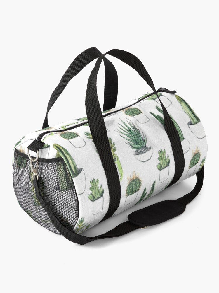 Alternate view of Watercolour cacti & succulents Duffle Bag