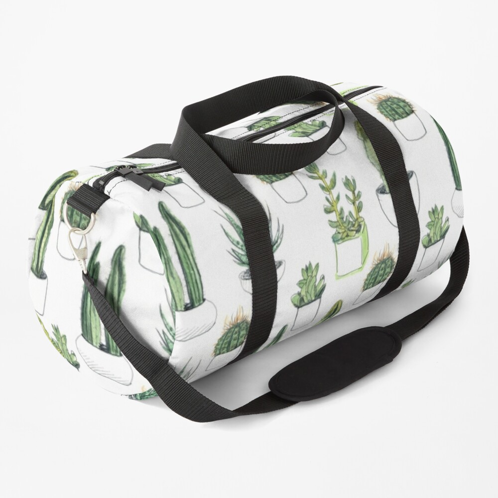 Watercolour cacti & succulents Duffle Bag